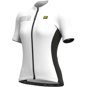 Alé Cycling Solid Color Block SS Jersey Women, blanco